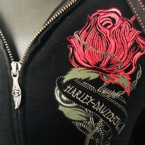 Harley-Davidson Jackets & Coats - Harley-Davidson Hoodie Zip Up Jacket - Women's XS